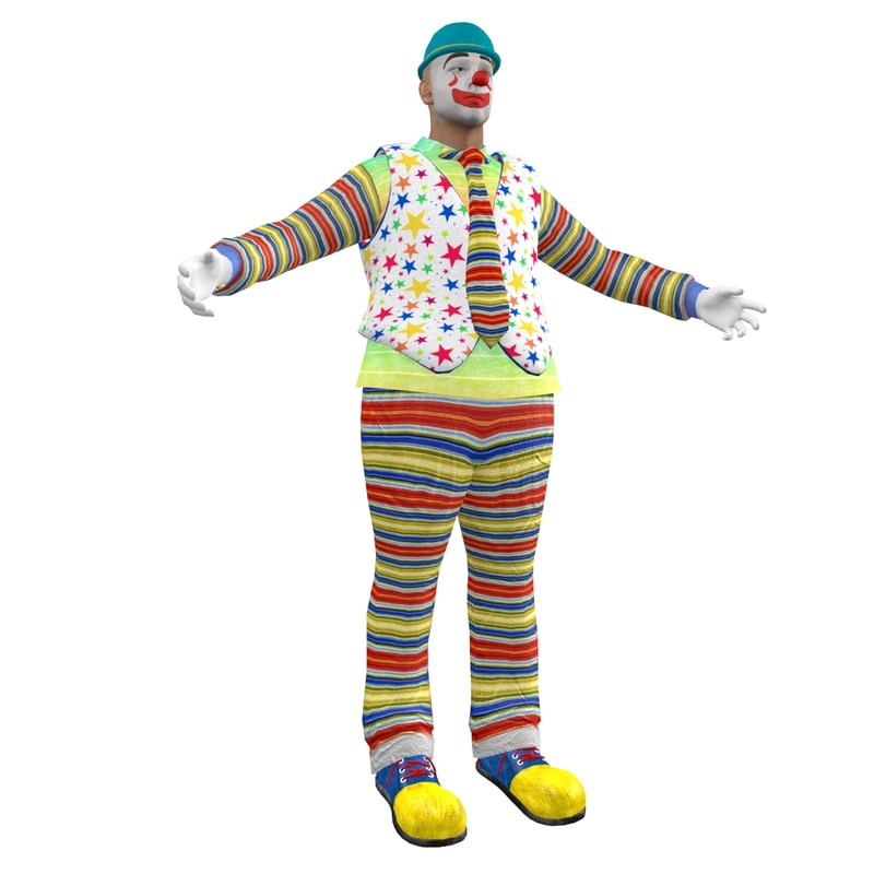 3d model of clown hat