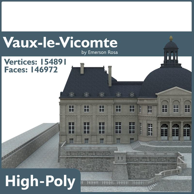 chateau vaux vicomte 3d model