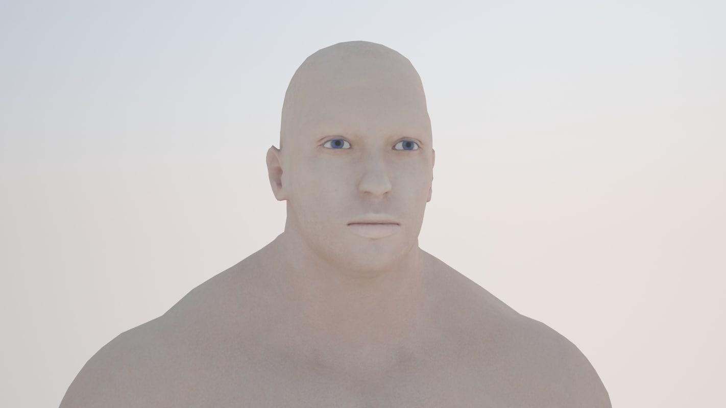 strong man 3d model