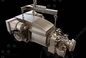 3d model of agt 1500 turbine