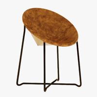 3d baxter askia chair model