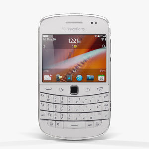 3d low-poly blackberry 9900 pure