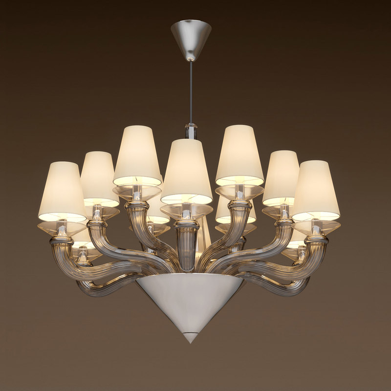 chandelier ottavia casa fendi 3d max