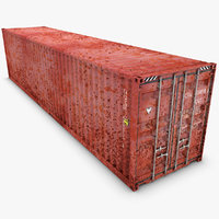 3d realistic container 40ft old