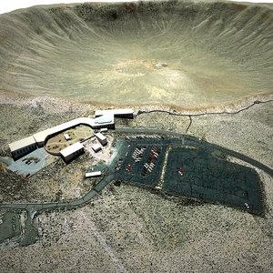 arizona crater 3d model
