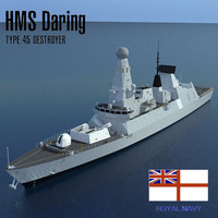 Type 45 Destroyer HMS Daring D32