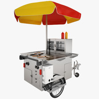 Hot Dog Cart 01