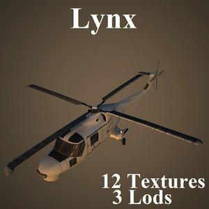 agustawestland lynx 3d model
