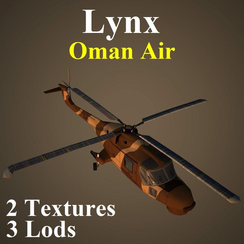 3d model agustawestland lynx oma helicopter
