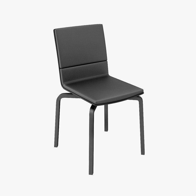 chair design lento upholstered 3d 3ds