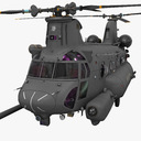 military transport helicopter 3D models