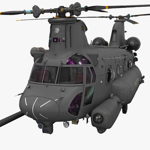 3d mh 47 chinook model