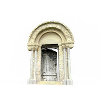 historic door 3d obj