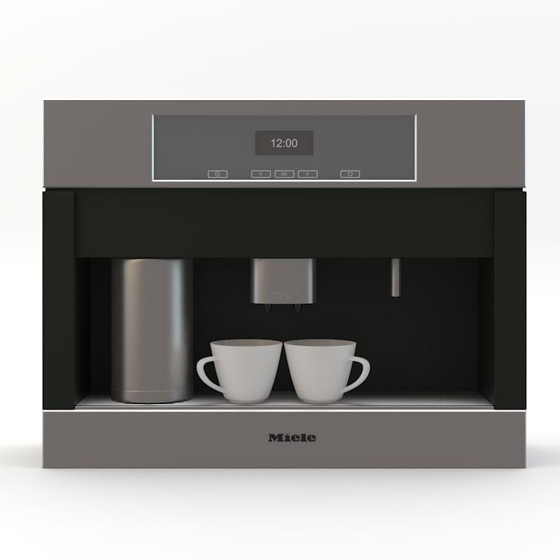 3d model of miele coffeemaker coffee