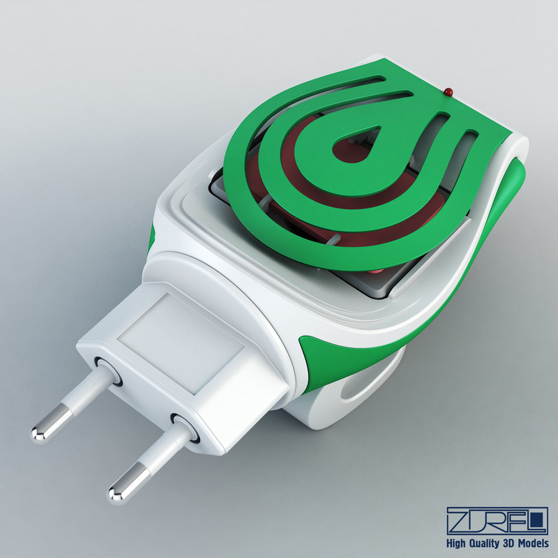 3d model mosquitall fumigator green