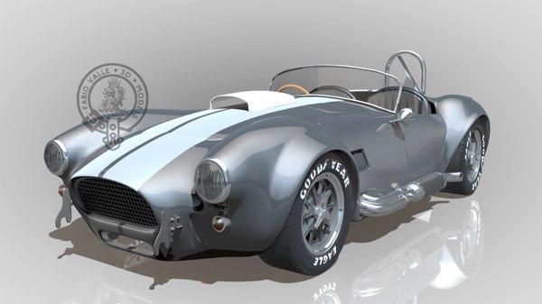 shelby cobra ac 427 3d model