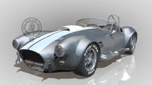 shelby cobra ac 427 3d model