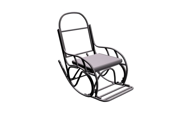 chair rocking 3d model