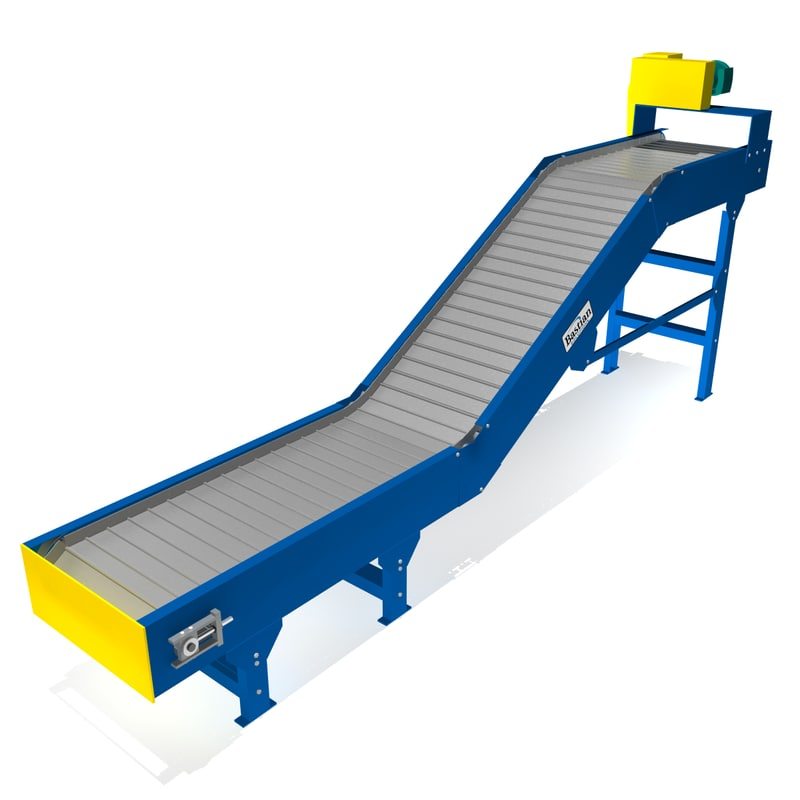 parts conveyor hinged 3d model