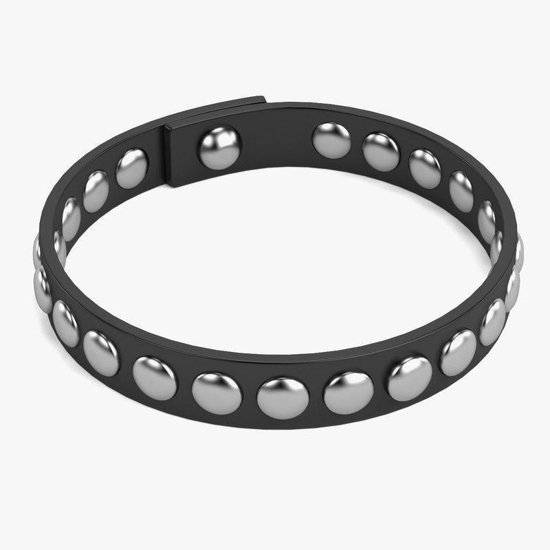 3d punk bracelet
