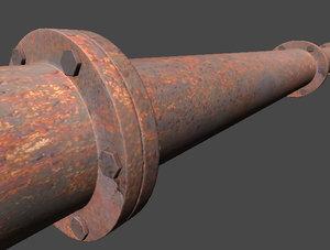 3d rusty conduit model