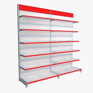 3d supermarket shelves model