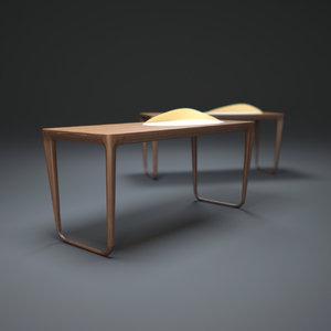 3ds max sunday-morning-writing-desk