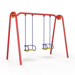 swing children playground 3d max