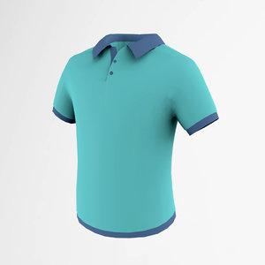 3d model polo t-shirt