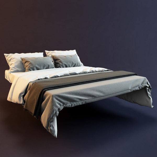 bedclothes bed 3d model