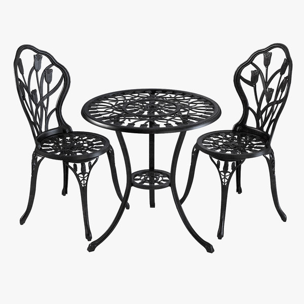 iron dining table chair 3d max
