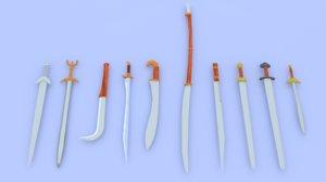 ancient weapons swords 3ds