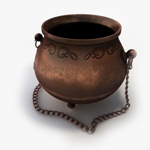 3d model of cauldron contains