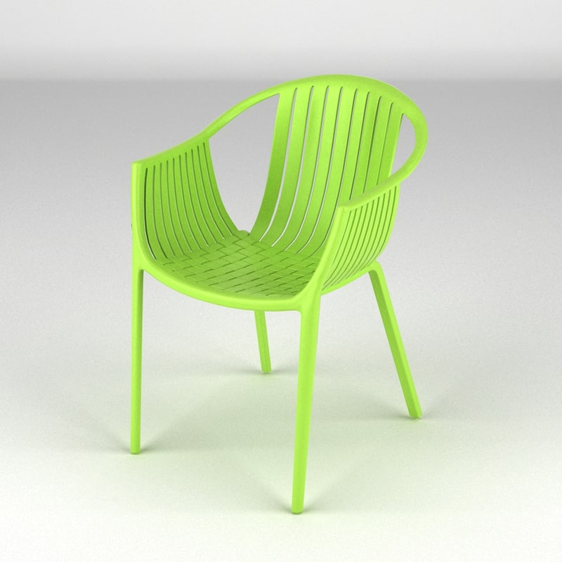3d of chair realistic