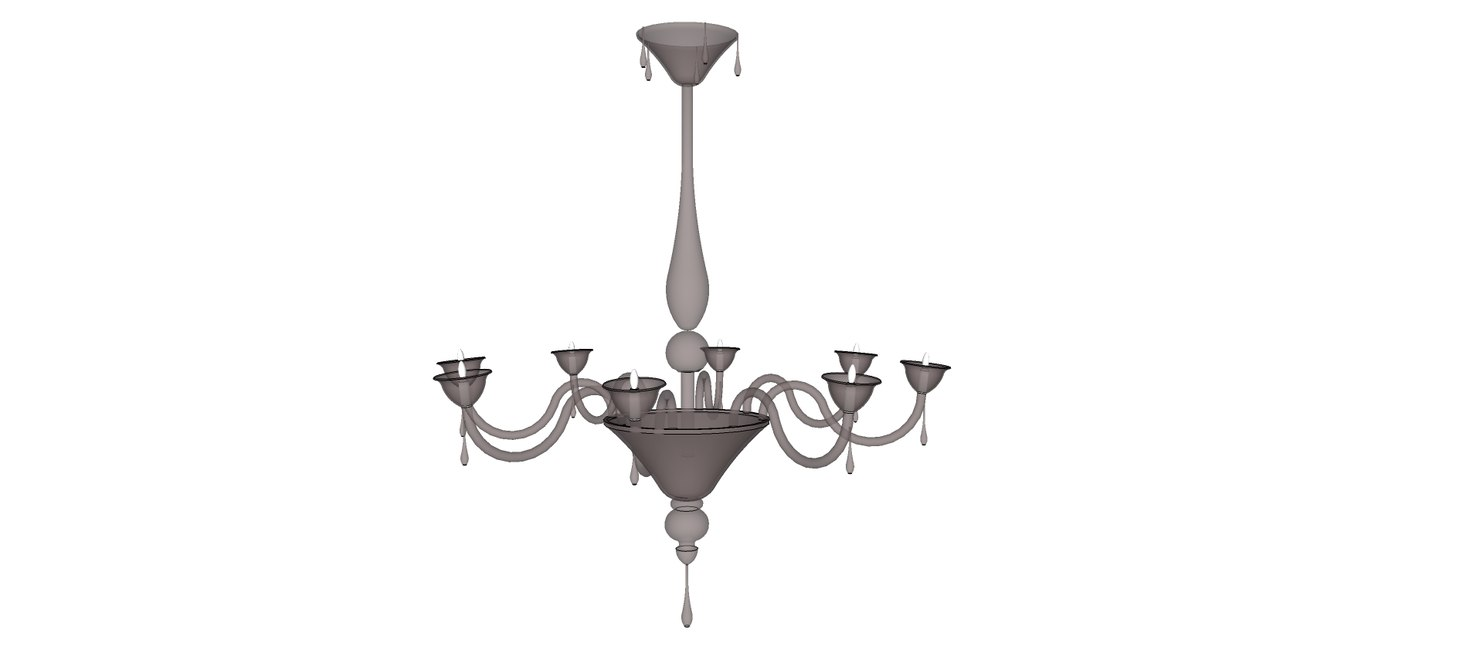 lampadario 102cm chandelier 3d model