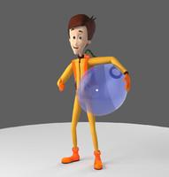 3d model rigged animation character