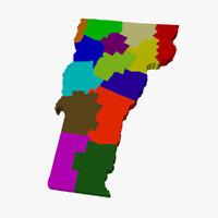3d counties vermont model