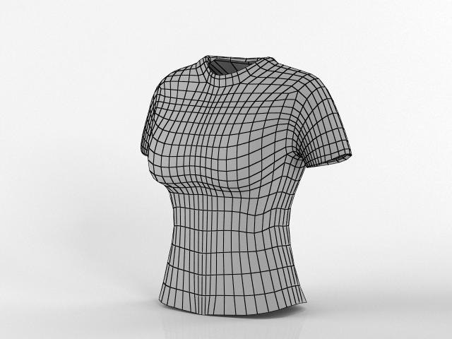 3d t-shirt base female model