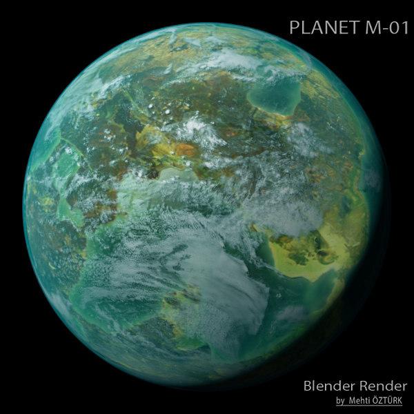 3d planet m-01 m model