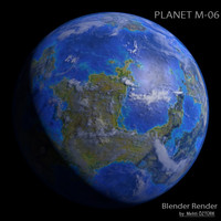 3d planet m-06 m model