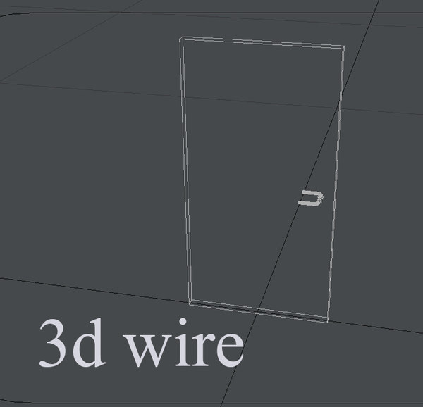 3d model door 04 -