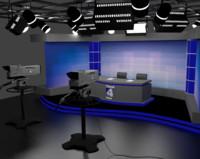 3d model news studio