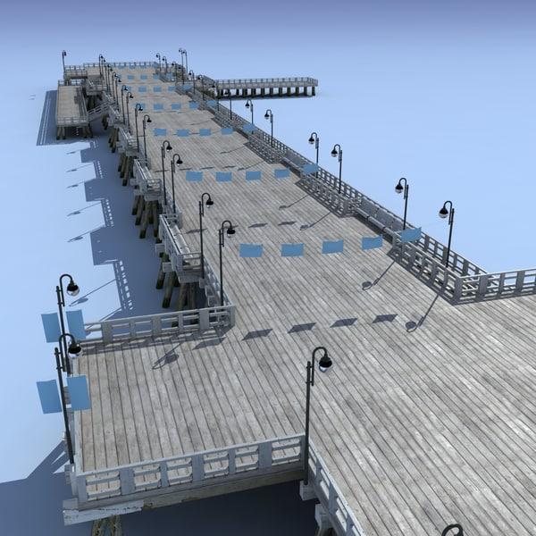 pier modelled 3d model