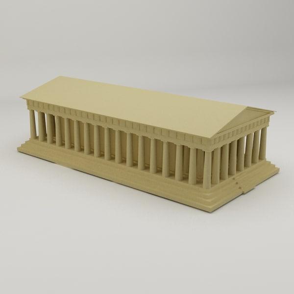 3d model parthenon