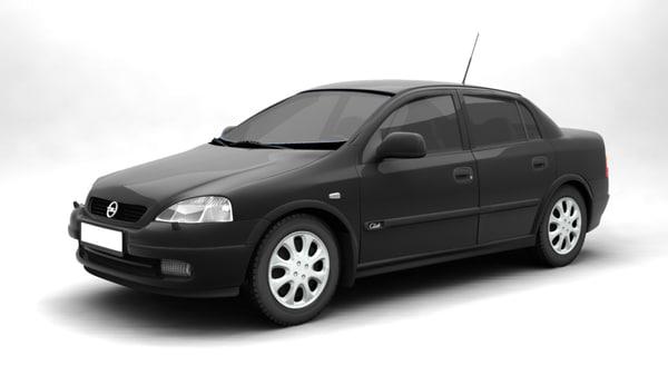3d opel astra 1999 model