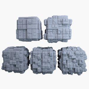 3d model sci-fi cube mht-05