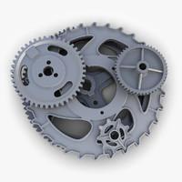 gears set 04 3d model