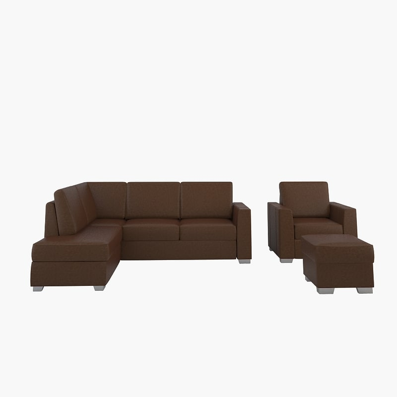 3d simply leather sofa