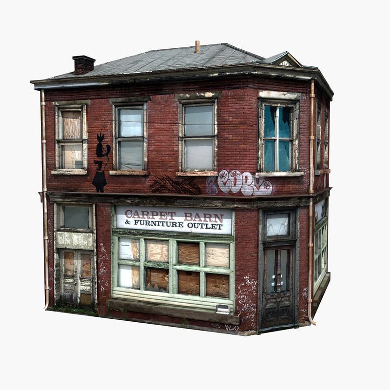 free realistic old building 3d model - fortnite free 3ds