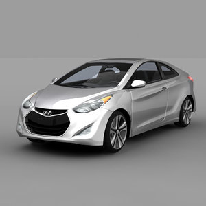 3d hyundai elantra coupe 2014 model
